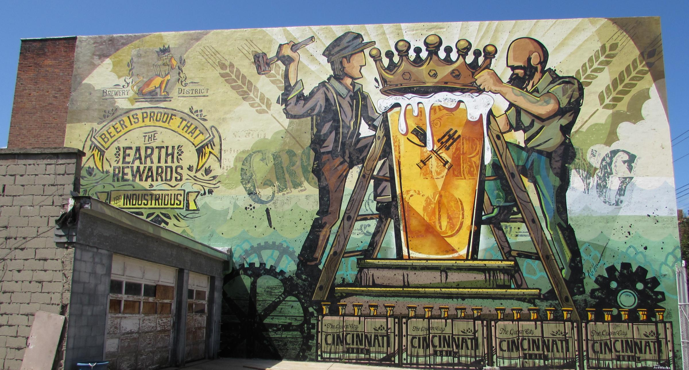 New Mural Celebrates Cincinnati S Beer Heritage Wvxu