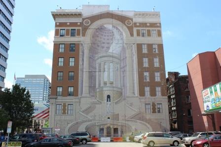 Artist richard haas talks about his mural homage to for Cincinnatus mural
