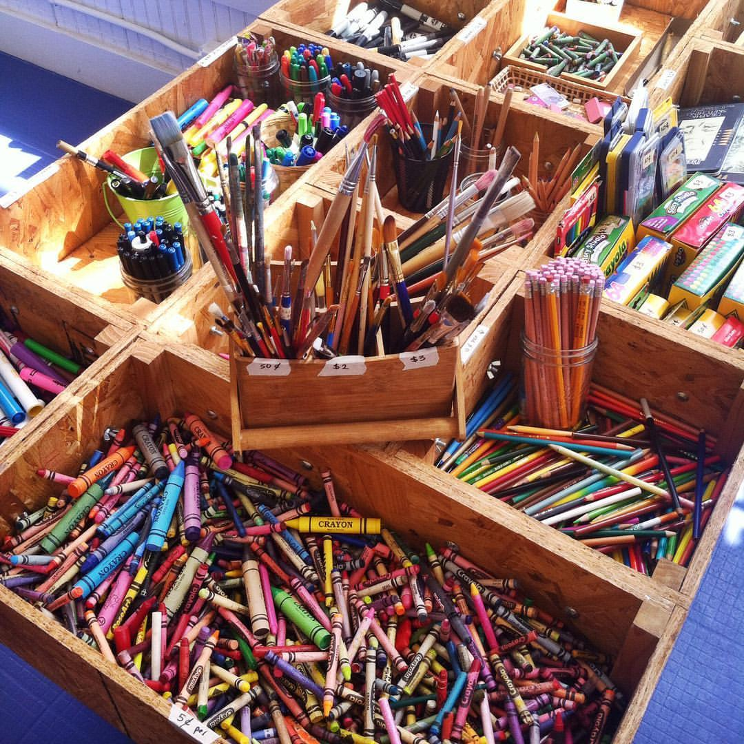 The Business Of Creatively Reusing Art Supplies