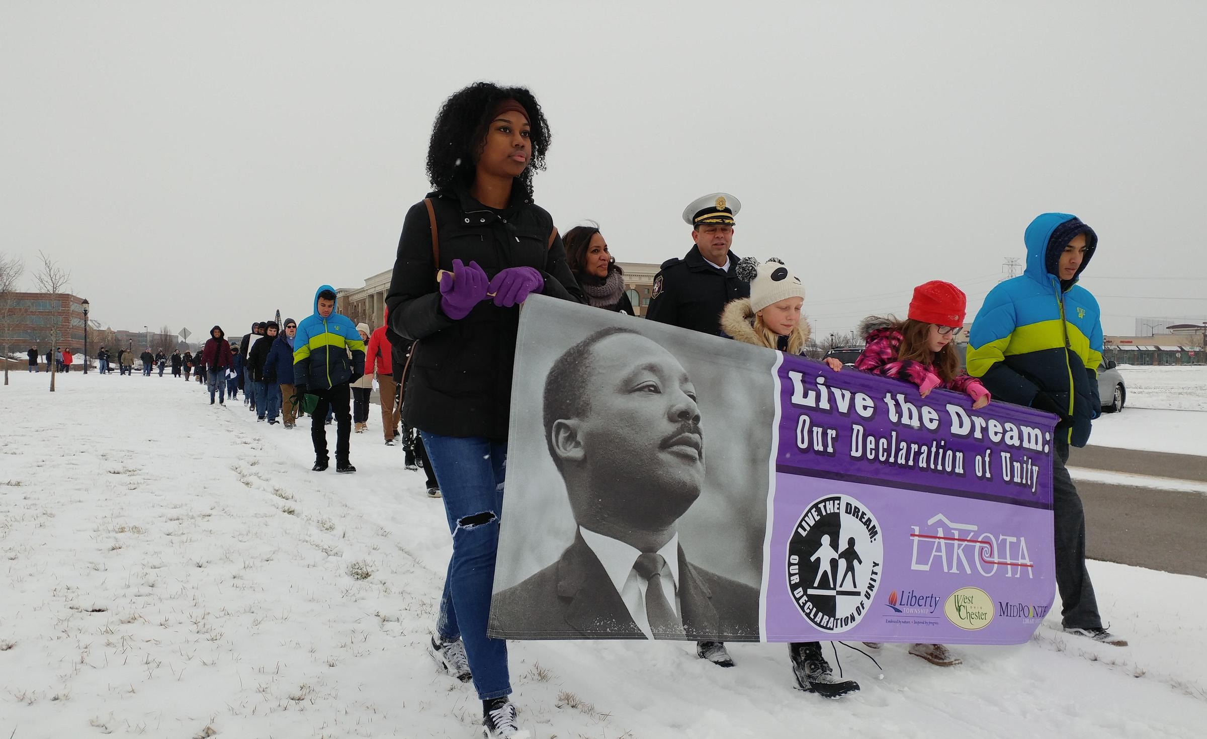 Cold Weather Didnt Deter Mlk Marchers In West Chester