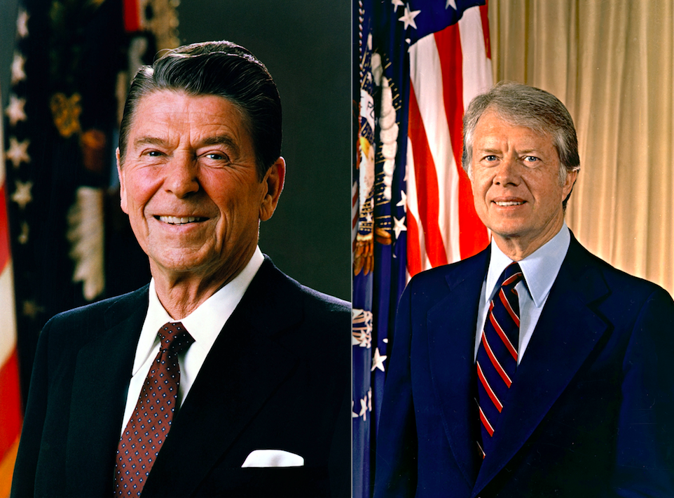 the day jimmy carter and ronald reagan almost bumped into each