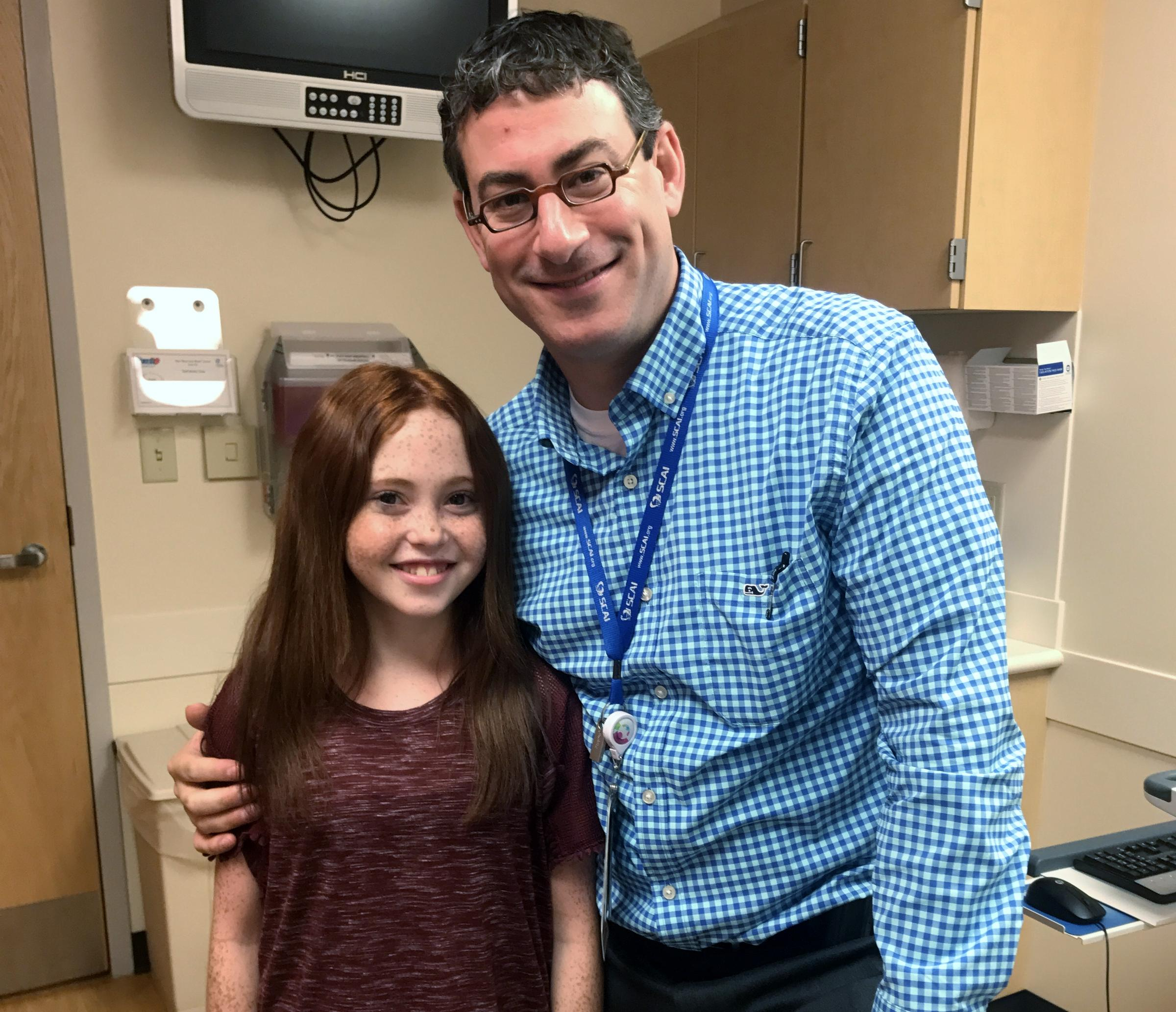 This girl is alive because of a creative approach at childrens wvxu leah stands by dr bryan goldstein who came up with the idea of a stent that can grow the blood vessel to properly connect to her new liver ccuart Image collections
