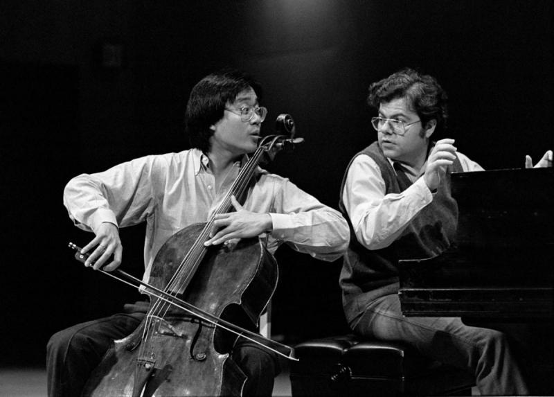 A young Yo-Yo Ma and Emanuel Ax meet at Marlboro.