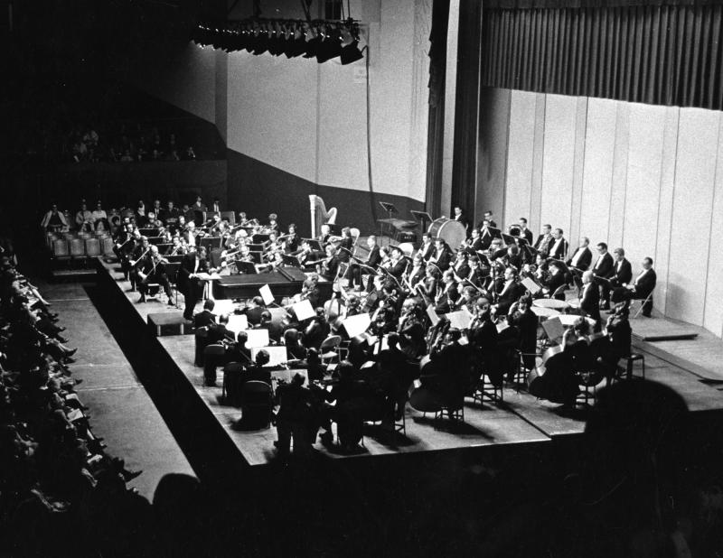 The Atlanta Symphony Orchestra at the Municipal Auditorium in 1967,