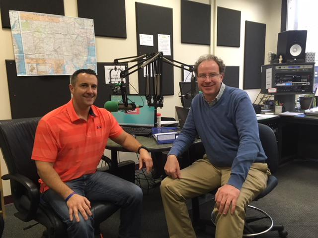 Ryan's Quest Co-Founder and President David Schultz (l) with host Ross Amico