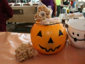 Cracklin's and jack-o'-lanterns at the French Food Festival.