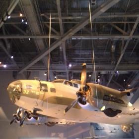 B-17 on display