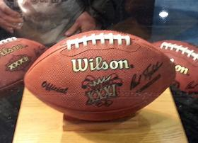 Super Bowl XXI game balls.