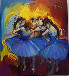 Homage to Degas - Dancers in Blue