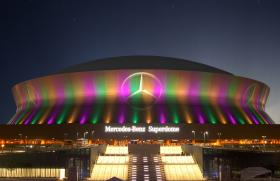 The Solomon Group currently designs the exterior lighting for the Superdome.