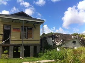 Some homes in the city are fast-tracked to be demolished, while other blighted homes are left to collapse.