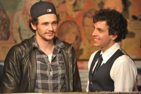 James Franco and Val Lauren behind the scenes from Sal