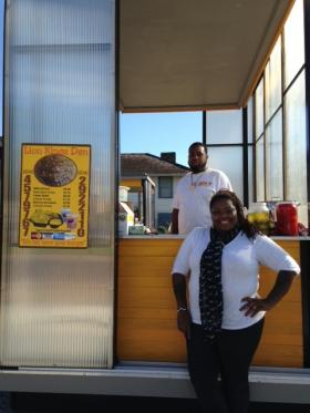 Kissy Smith and her business partner, founders of Lion King's Den at the Market on LaSalle.