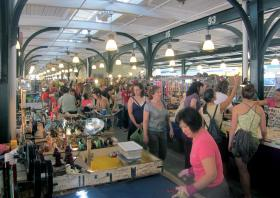 The flea market at New Orleans' historic French Market.