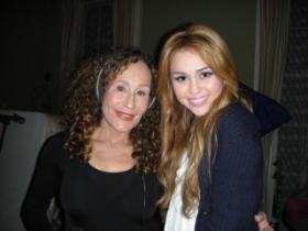 "On the set of ""So Undercover"" with Miley Cyrus."