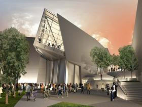 An artist's view of the National WWII Museum's planned Liberation Pavilion. It will be the museum's final permanent exhibition hall when it opens in 2016 or 2017.