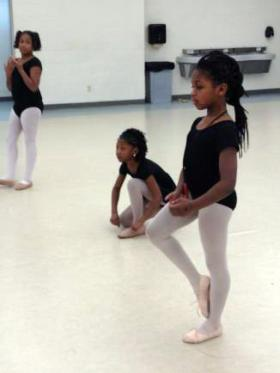 Girls from schools all over the city take ballet classes in Broadmoor's Education Corridor.