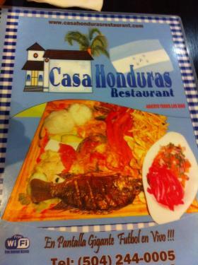Casa Honduras restaurant.