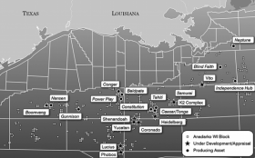 Anadarko's holdings in the Gulf of Mexico. The company was a minority partner in the Deepwater Horizon drilling rig disaster.