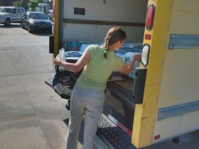 Four days a week Heather loads spayed and neutered feral cats into a van and returns them to their neighborhoods.