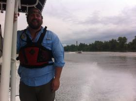 The Nature Conservancy's Ben Weber, out on the Wax Lake Delta.