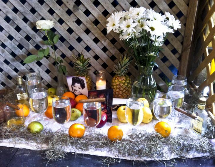 A Voudou altar.