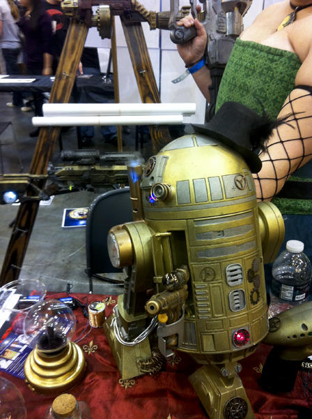 A steampunk R2-D2. Photo by Jason Saul.