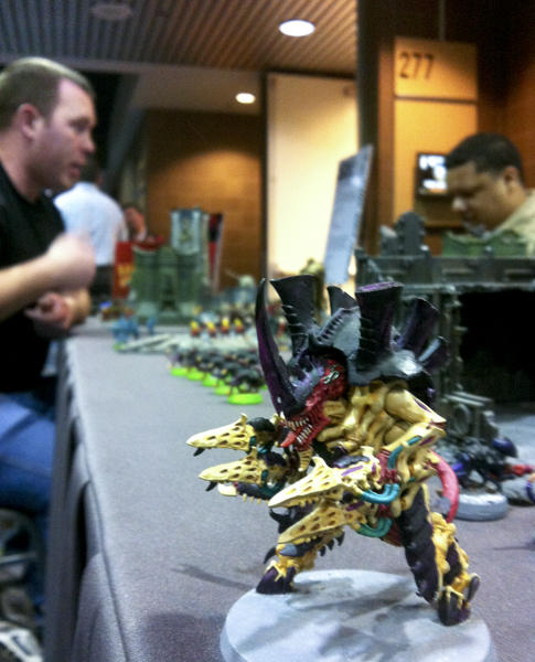 Many of the figures in tabletop miniatures gaming are hand-painted. Photo by Jason Saul.