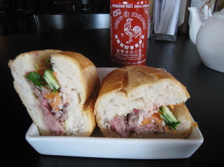 A banh mi, sometimes called the Vietnamese po-boy.