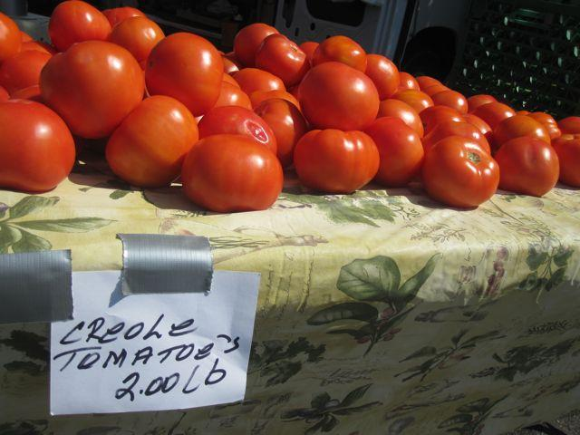 The name Creole tomato can turn heads in the market place this time of year.
