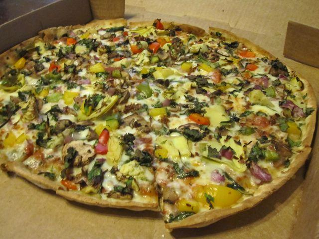 A dressed up pie from NAKEDPizza, a New Orleans-bred company promoting its healthy take on pizza nationally.