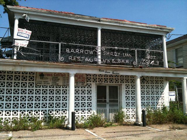 Barrow's Shady Inn, one of the vintage New Orleans restaurants lost after the levee failures of 2005.