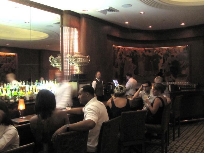 The revived Sazerac Bar inside the revived Roosevelt Hotel.