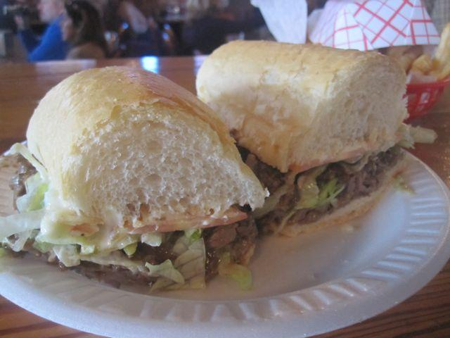 Same as it ever was: the roast beef po-boy recipe that was relocated from Parasols to Tracey's.