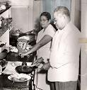 Bernie Joliet's Mamita & Papa making tamales in New Orleans' yesteryears.