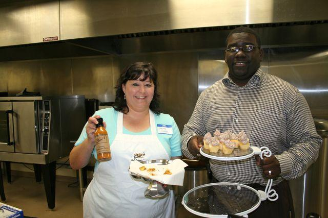 Stacey Greco of Omi's Gourmet Foods and Kyshun Webster of Cupcakes & Co., two starts based at Edible Enterprises.