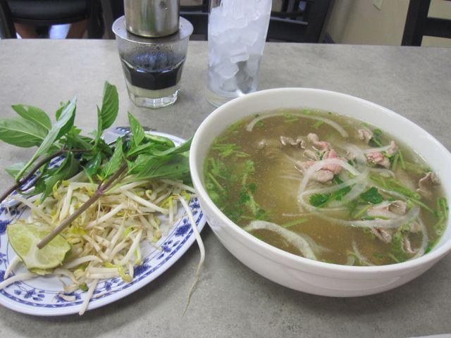 Pho with all the fixings at Pho Hoa.