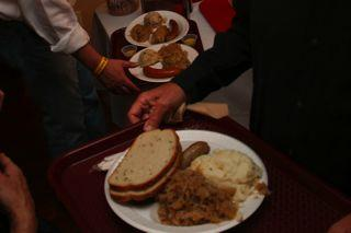 Traditional German food at the Deutsches Haus Oktoberfest in New Orleans.