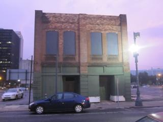One of the landmark, but neglected, buildings along the 400 block of South Rampart Street.