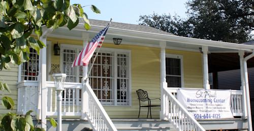 The St. Paul's Homecoming Center in Gentilly, a hub of grassroots recovery resources.