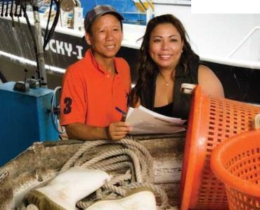Sandy Nguyen works directly with Louisiana's fisherman and other rural entrepreneurs.