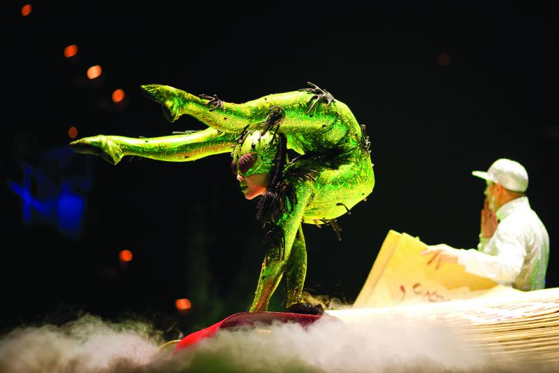 "Scene from ""Michael Jackson-The Immortal"" by Cirque du Soleil."