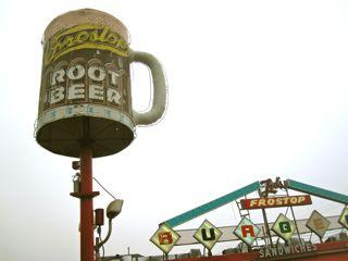The iconic root beer mug at Ted's Frostop is right-side-up again.