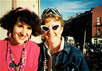 Kathy  Cain & Paulette Hurdlik, back in the day.