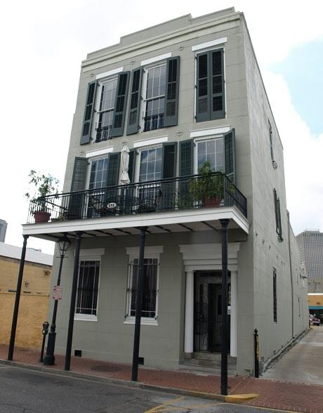A former house of prostitution is now a set of posh apartments in the French Quarter.