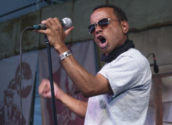 John Boutté performs at the 2008 Voodoo Music Experience festival, held in New Orleans City Park.