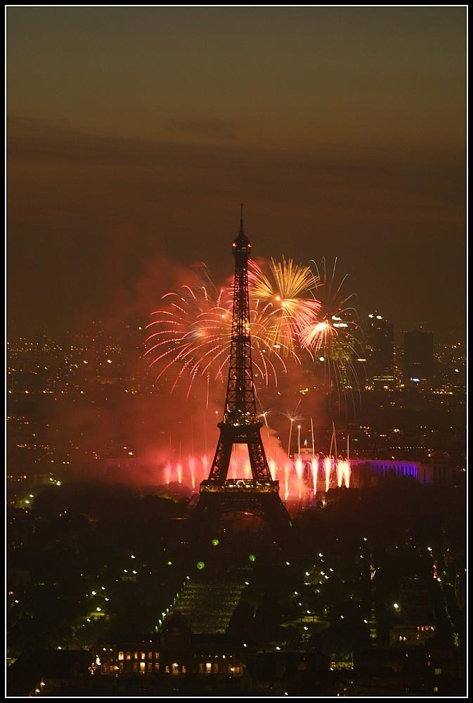 Fireworks in Paris to celebrate Bastille Day. There will be a fireworks display on the Mississippi River on July 13th at 9pm.