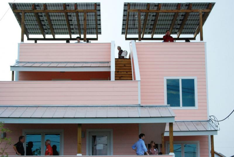 Frank Gehry designed the latest home in the Make it Right neighborhood in the Lower Ninth Ward.