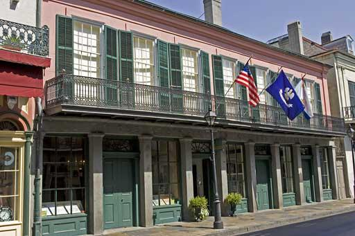 The location of the Historic New Orleans Collection is the 1792 Merieult House, one of very few surviving buildings from the Spanish Colonial period in New Orleans.