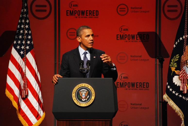 President Obama kicked off the 2012 National Urban League conference in New Orleans.